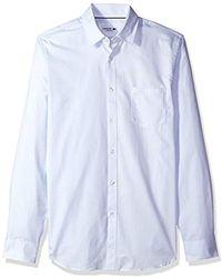 Lacoste - Long Sleevebutton Down With Pocket Multi-pattern Poplin - Lyst