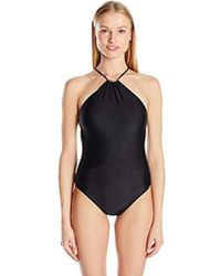 6e608ee5a54 ViX Solid Thai Brazilian Bikini Bottom in Black - Lyst
