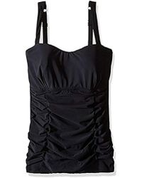 Gottex - Pleated Ruching D-cup Tankini Top Swimsuit - Lyst