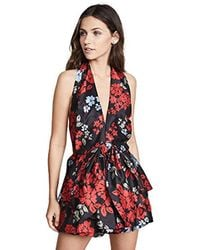 C/meo Collective - Methodical Halter Playsuit With Bow Detail - Lyst