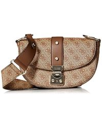 Guess - Florence Shoulder Bag Bro - Lyst