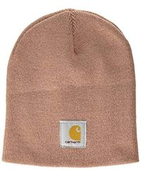 338059c978595 Lyst - Carhartt Gretna Fleece 2 In 1 Hat And Face Mask in Red