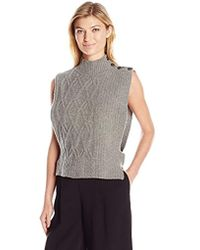 Dolce Vita - Yumi Sleeveless Button Shoulder Cable Knit Sweater - Lyst