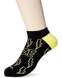 DIESEL - Skm-gost Ankle Socks Raves For Braves - Low Cut, - Lyst
