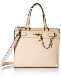 Calvin Klein - Roxy Goat Split Leather North/south Box Chain Detail Tote - Lyst