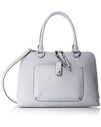 593cda2ba28f Lyst - MICHAEL Michael Kors Mercer Embossed-leather Dome Satchel in ...