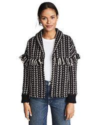 f5b6928c48c Cupcakes And Cashmere - Genisis Textured Jacket W fringe - Lyst