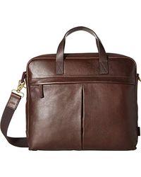 Fossil - Buckner Leather Brief Workbag - Lyst