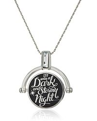 ALEX AND ANI - S Wrinkle In Time - Dark And Stormy Night Spinner Expandable Necklace - Lyst