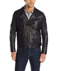 Levi's - Rugged Leather Motorcycle Jacket - Lyst
