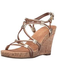 733af252a81f Lyst - Aerosoles A2 By Stone Plush Wedge Sandal in Natural
