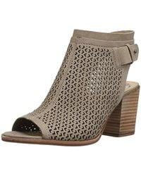 50554b4dc7c Lyst - Vince Camuto Lidie Perforated Peep-toe Sandals in Black
