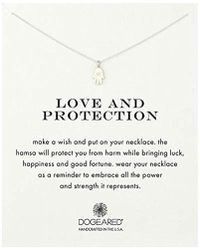 """Dogeared - All Is Well-hamsa Necklace, 16"""" - Lyst"""
