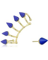 "Noir Jewelry - ""memphis"" Nathalie Earrings And Ear Cuffs - Lyst"