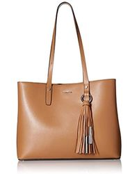 Calvin Klein - Maggie Mercury Leather East/west Tote - Lyst