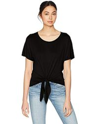 Three Dots - Refined Jersey Short Loose Tie Front Tee, - Lyst