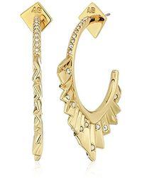 Alexis Bittar - Crystal Encrusted Pleated Hoop Earrings - Lyst