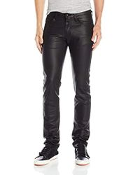 Naked & Famous Super Guy Black Waxed Stretch Jeans