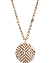 Fossil - Chevron Glitz Pendant Necklace - Lyst