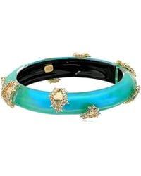 Alexis Bittar - Crystal Studded Liquid Silk Hinge Bangle Bracelet - Lyst
