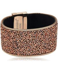 """Kenneth Cole - """"rose Gold Items Rose Gold Statement With Blush Sprinkle Stone Bracelet - Lyst"""