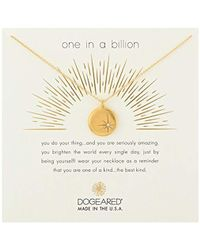"Dogeared - One In A Billion, Sparkle Star Disc Chain Necklace, 16""+2"" Extender - Lyst"