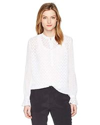 French Connection - Classic Crepe Light Polly Tops - Lyst