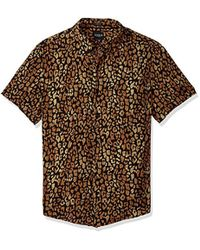 Guess - Short Sleeve Spotted Leopard Print Shirt - Lyst