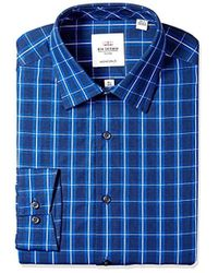 Ben Sherman - Bs Mls Slm Ft Flo Sp Nvy/roy Dob Chk - Lyst