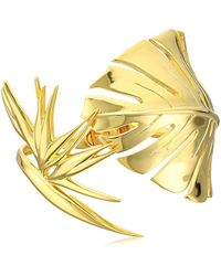 Noir Jewelry - Philodendron Bangle Bracelet - Lyst
