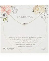 """Dogeared - Bridesmaid Flower Card Pave Sparkle Ball Chain Neckalce, 16"""" + 2"""" Extension - Lyst"""