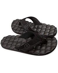 Volcom - 's Recliner Sandal Flip Flop - Lyst