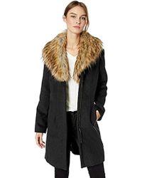 Ellen Tracy - Zip Front Coat - Lyst