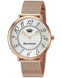 Juicy Couture - 'la Ultra Slim' Quartz Gold Casual Watch(model: 1901557) - Lyst
