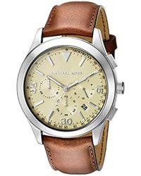 076c56fd5204 Lyst - Michael Kors Gareth Black Stainless Steel Watch