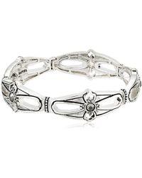 Napier - Silver-tone With Antique Stretch Bracelet - Lyst