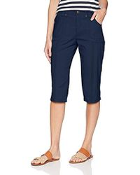 Lee Jeans - Relaxed Fit Lyric Knit Waist Cargo Capri Pant - Lyst