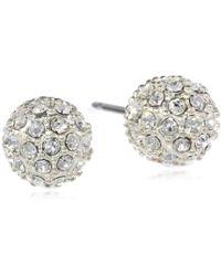 "Judith Jack - ""mini Items"" Sterling Silver, Crystal Stud Earrings - Lyst"