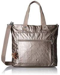 e5fa9e3dfd58 Lyst - Tory Burch Mercer Metallic Adjustable Shoulder Bag in Gray