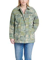 Levi's - Plus Size Oversized Long Cotton Trucker Jacket - Lyst