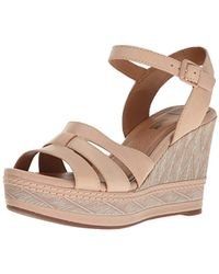 Clarks - Zia Noble Wedge Sandal - Lyst