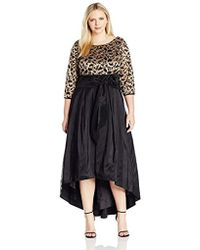 Eliza J Plus Sizes Fit & Flare Dress With High-low Skirt - Black
