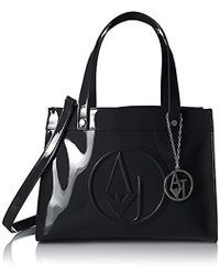 Armani Jeans - Patent Crossbody Tote - Lyst
