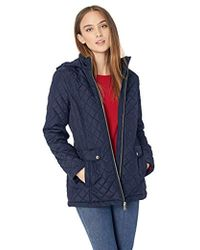 Tommy Hilfiger - Diamond Quilted Jacket With Covered Placket And Hood - Lyst