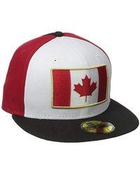 KTZ - Cap Spirit Canada Fitted Hat - Lyst