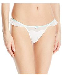 Betsey Johnson - Bridal Ruffle Thong Panty - Lyst