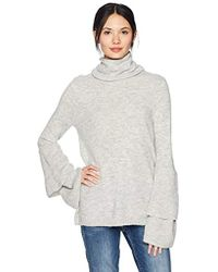Kensie - Warm Touch Cowl Neck Ruffle Tiered Bell Sleeve Sweater - Lyst