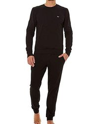 Emporio Armani - Pullover Sweater And Pants Loungewear Set - Lyst