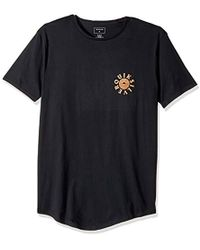 Quiksilver - Short Sleeve Scallop East Rising Dog Tee - Lyst