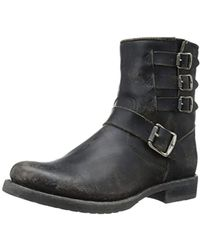 Frye - Veronica Belted Short-sto Moto Boot - Lyst